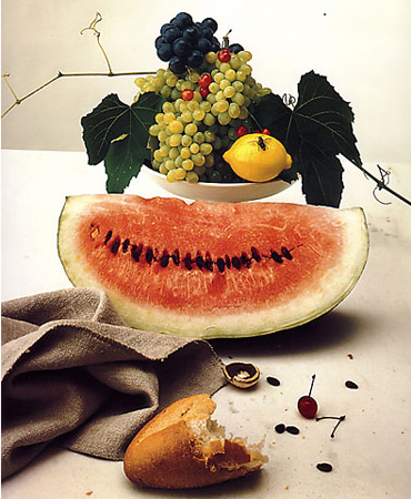 Still Life with Watermelon, c.1947 ©Irving Penn